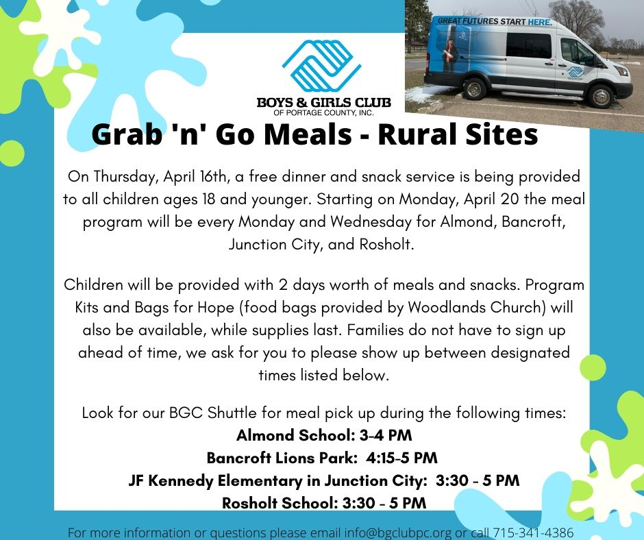 Portage County BGC Grab 'n Go Meals